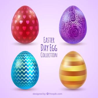 Raccolta realistica delle uova di giorno di pasqua