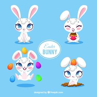 Raccolta simpatici coniglietti pasquali