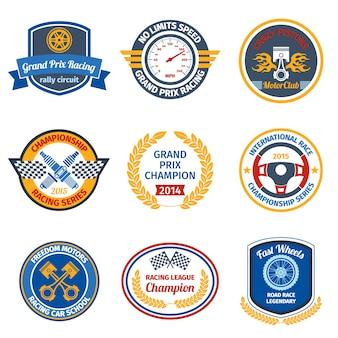 Racing emblemi colorati