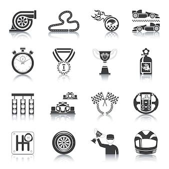Racing icons black