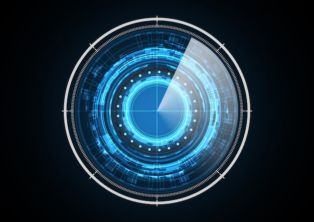 Radar del cerchio futuro astratto di tecnologia