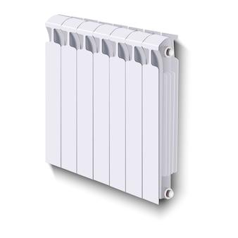 Radiatore di riscaldamento, su sfondo bianco.