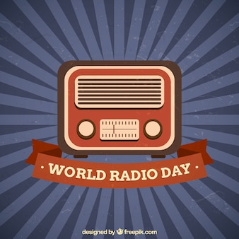 Radio giornata mondiale vintage background