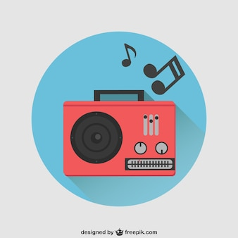 Radio vettore rosso