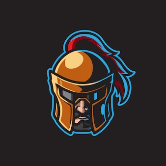 Raffreddare warrior head mascot logo