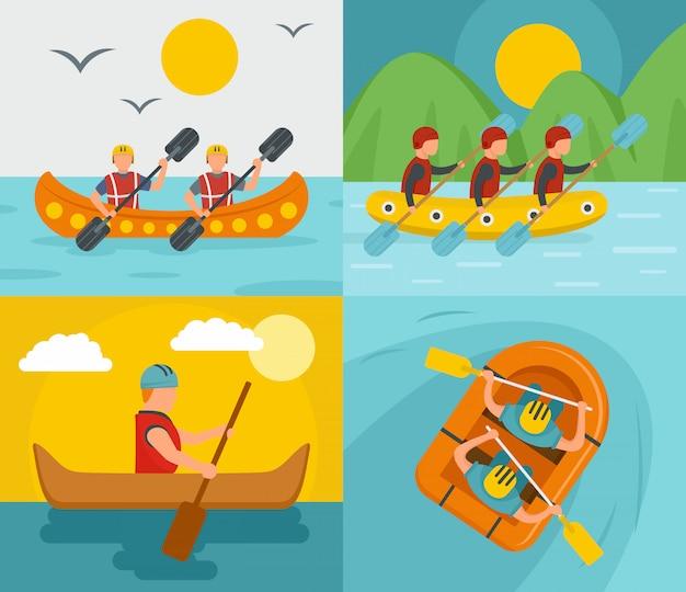 Rafting kayak in canoa