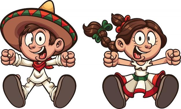 Ragazza e ragazzo messicano