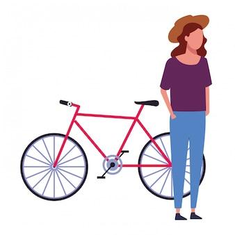 Ragazza senza volto e bici