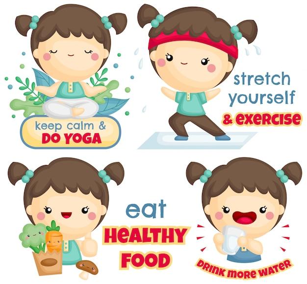 Ragazza stile di vita sano