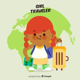 Ragazza viaggiatore