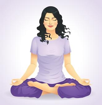 Ragazza yoga