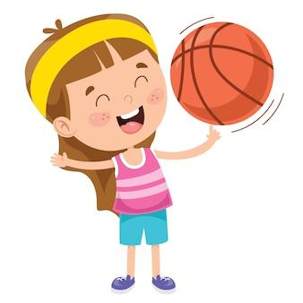 Ragazzino che gioca a basket