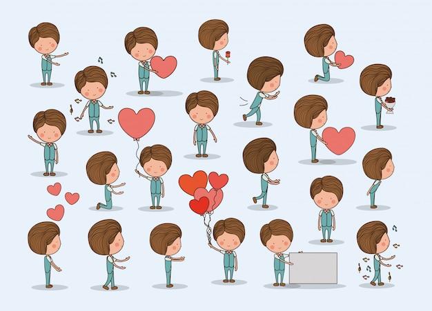 Ragazzo carino innamorato