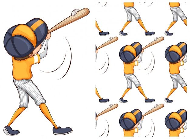 Ragazzo che gioca a baseball isolato su bianco