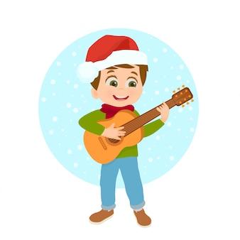 Ragazzo che suona la chitarra