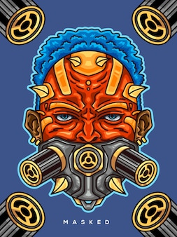 Ragazzo con maschera