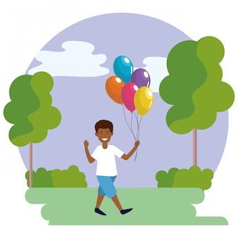 Ragazzo con palloncini