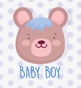 Ragazzo o ragazza, il genere rivela che è un ragazzo carino orso faccia carta