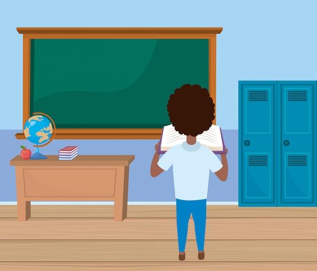 Ragazzo ragazzo a scuola