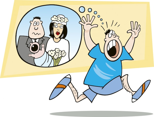 Ragazzo spaventato dal matrimonio