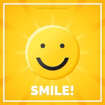 Raggera con sfondo smiley