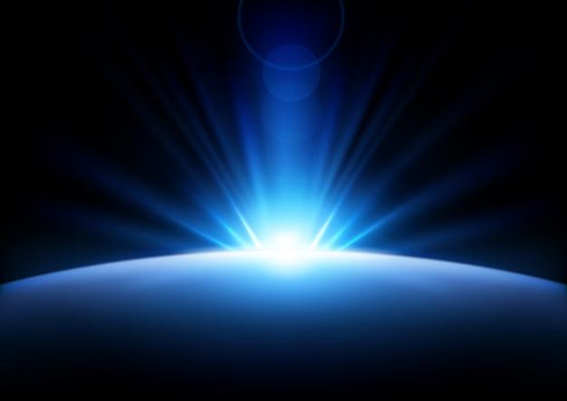 Raggi blu in aumento sfondo