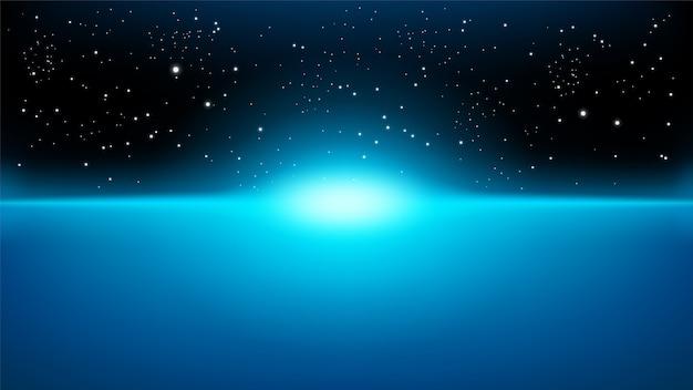 Raggi blu in aumento