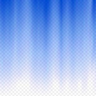 Raggi di bagliore blu