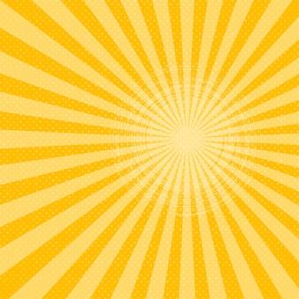 Raggi di sole giallo mezzitoni sfondo. illustrazione.