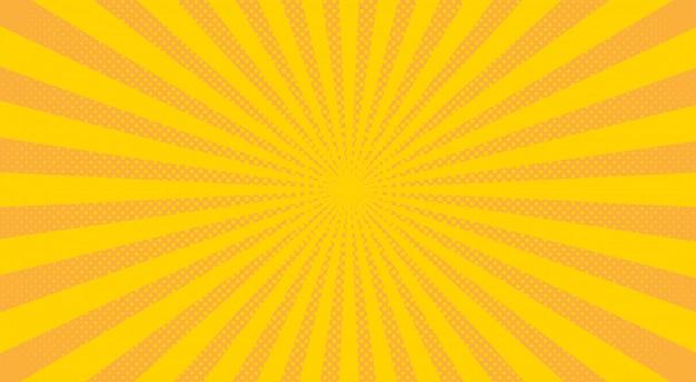 Raggi di sole giallo mezzitoni sfondo.