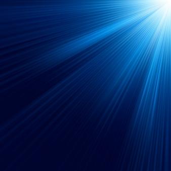 Raggi luminosi blu. file incluso
