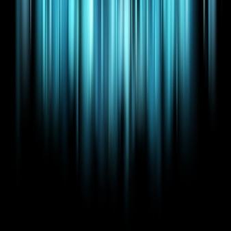 Raggi luminosi magici blu astratti sopra fondo scuro.