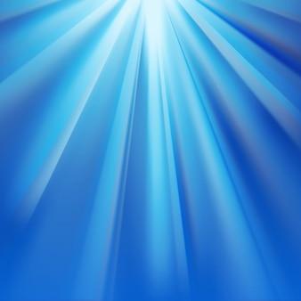 Raggi polari blu con bagliore