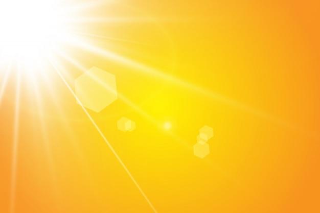 Raggi solari caldi del sole.