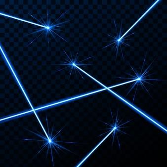 Raggio di sicurezza laser splendere raggio di luce.