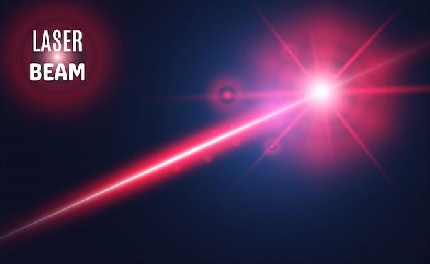 Raggio laser astratto. trasparente isolato su sfondo nero. illustrazione.