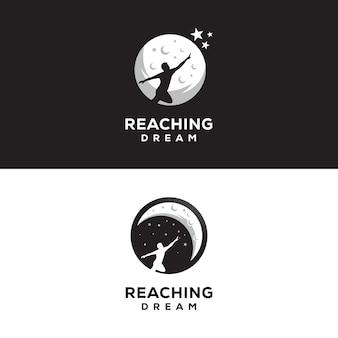 Raggiungendo il logo dei sogni notte logo dei sogni