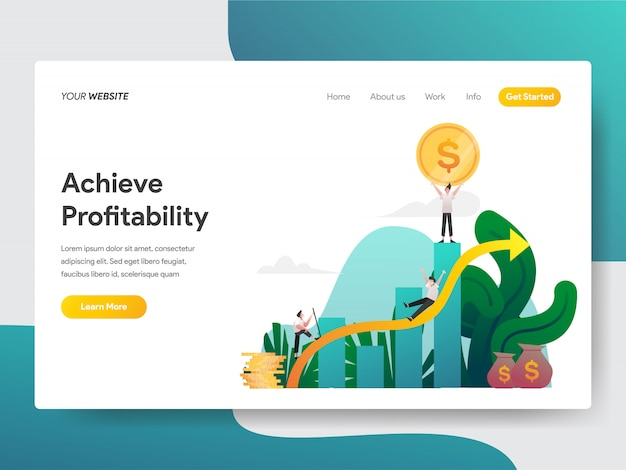 Raggiungere la redditività per la pagina del sito web
