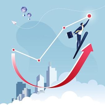 Raggiungi l'obiettivo concetto di business