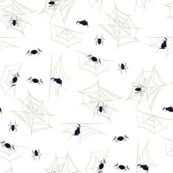 Ragnatela del partito del modello senza cuciture di halloween del ragno.