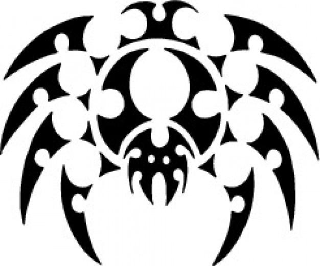 Ragno tatuaggio vista superiore di design