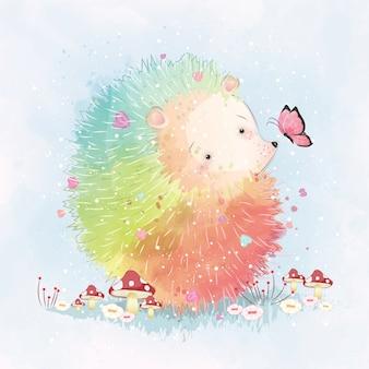 Rainbow hedgehog