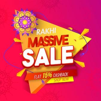 Rakhi massive sale background.