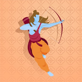 Ram navami con arciere