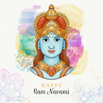 Ram navami con macchie in acquerello
