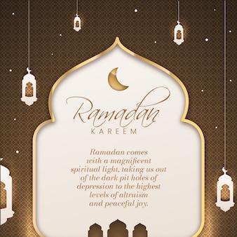Ramadan celebrazione stile piatto