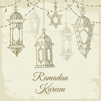 Ramadan disegnati a mano