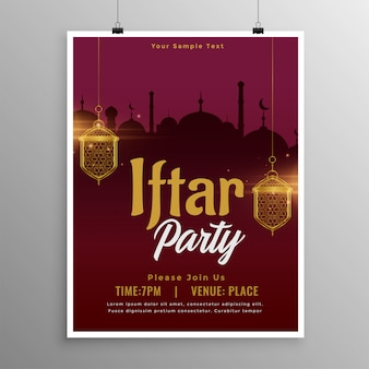 Ramadan iftar party template design dell'invito