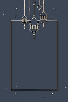Ramadan incorniciato design di sfondo