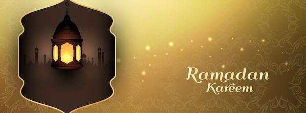 Ramadan kareem banner design decorativo